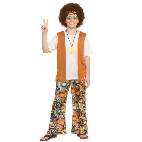 Boys Cool Hippie Costume for 60s 70s Hippie Mod Fancy Dress